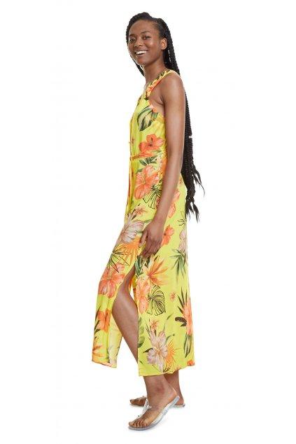 Žluté šaty Corcega Desigual 20SWMW37