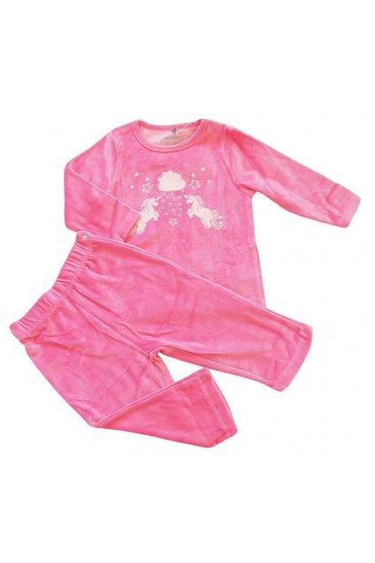 Kojenecké růžové pyžamo Orchestra