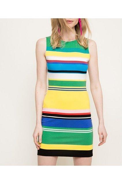 Pruhované šaty 73V2WX8/5020 Desigual