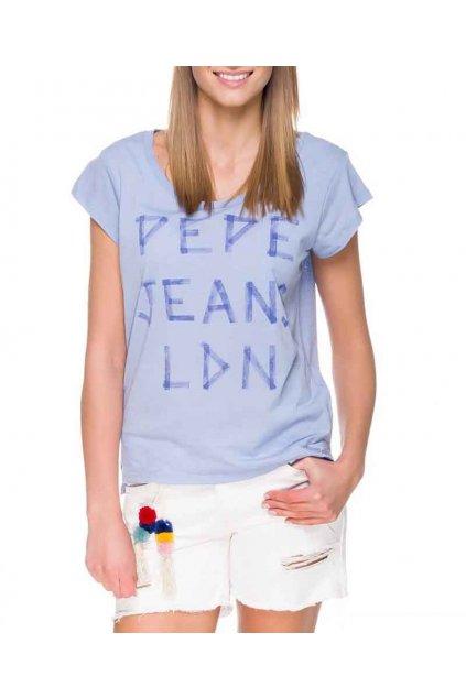 Tričko PEPE JEANS PL502569 KATRINA Bleach blue