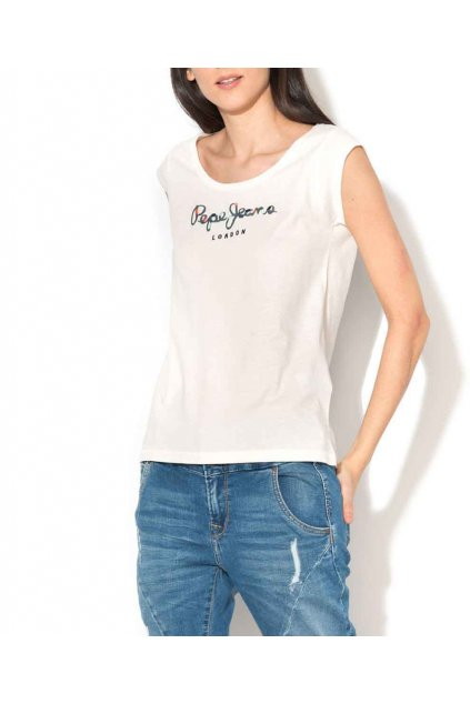 Tričko PEPE JEANS PL502573 LINDA White
