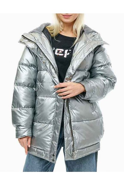 Dámská bunda PEPE JEANS PL401522 BELINDA Silver