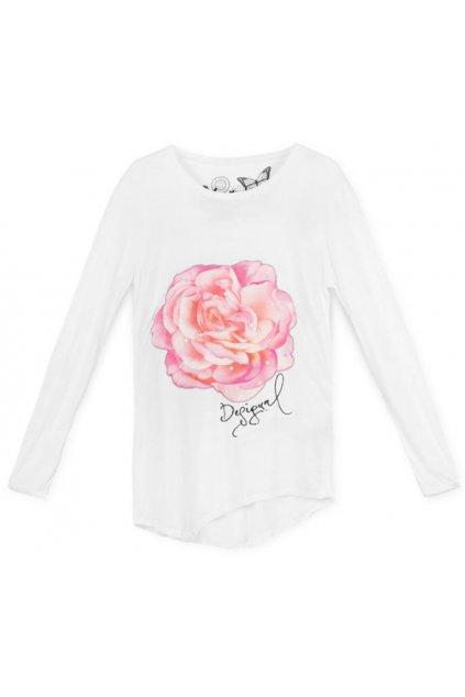Tričko s růží DESIGUAL 69T26E7/1000