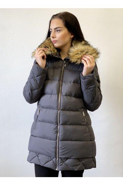 Zimní bunda Missfofo M-12 Grey