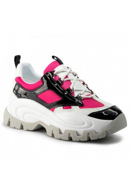 LIU JO Wawe 01 - Sneaker Black/Fuxia