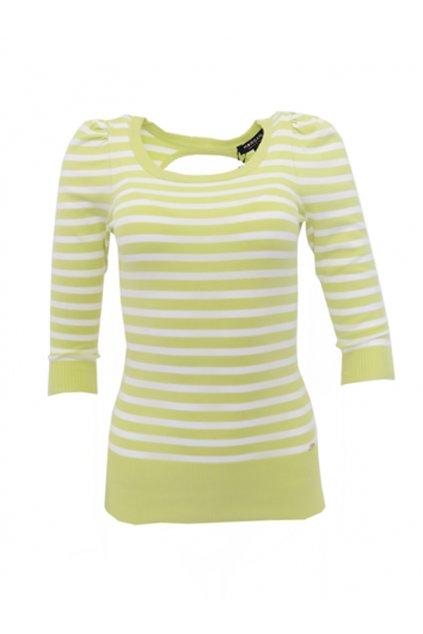 Zelený svetřík s proužky MORGAN