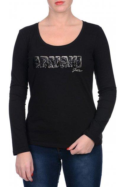Tričko Armani Jeans black 6Y5T29 5JABZ