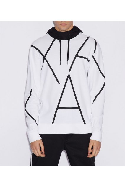 Mikina Armani Exchange 3GZMAH ZJBAZ White/black
