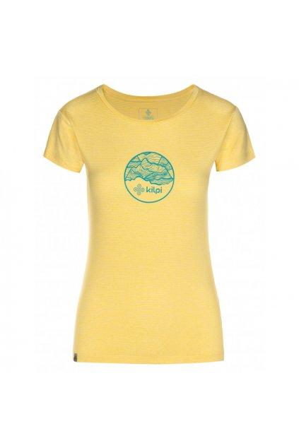 Kilpi Dámské tričko Guilin žlutá