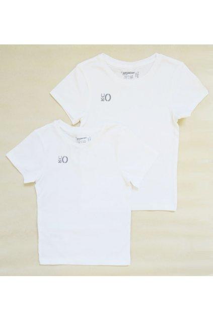 Dětské tričko bílé 2 kusy Orchestra HGAKUI-BLA