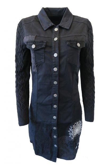 Džínové šaty Desigual 18WWVDX2/2000