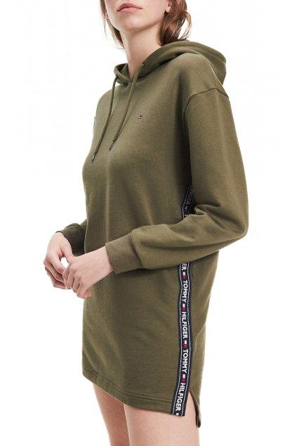 Teplákové šaty Tommy Hilfiger UW0UW01960307 HOODY DRESS LS