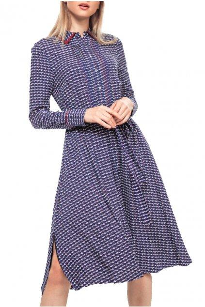 Šaty Tommy Hilfiger WW0WW260010GZ A NOIE DRESS LS