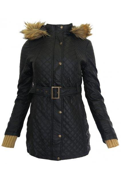 Černá bunda s kožíškem Desigual