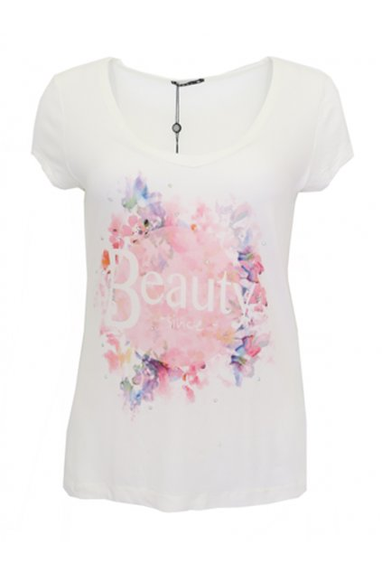 Bílé tričko BEAUTY