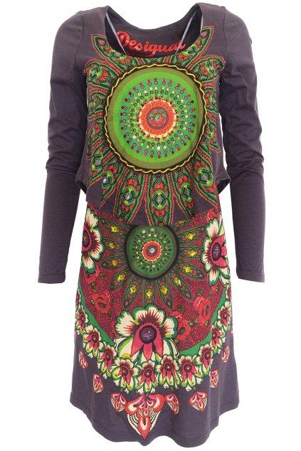 Barevné dvojité šaty Desigual