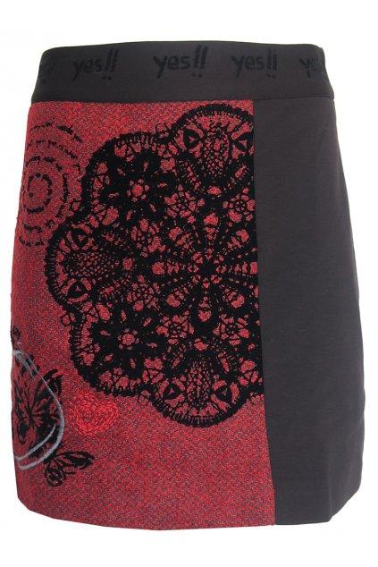 Černočervená sukně Desigual