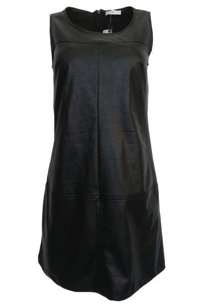 Černé lesklé šaty Cache Cache