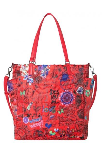 Červená prošívaná kabelka Desigual