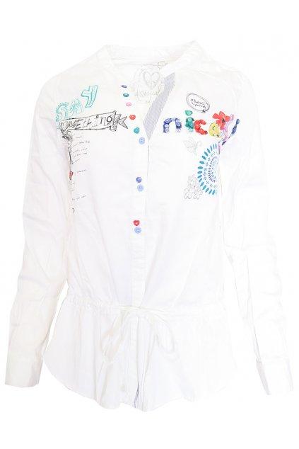 Bílá zdobená košile Desigual