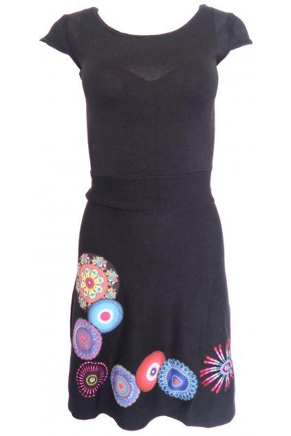 Desigual černé svetrové šaty s koly