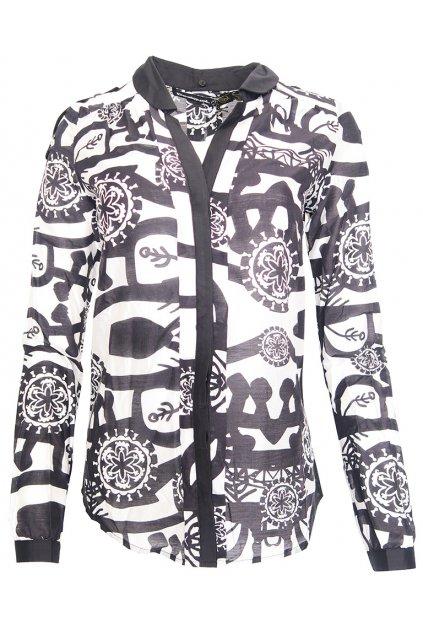 Desigual černobílá vzorovaná košile