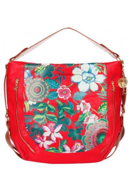 Červená kabelka s květy Desigual