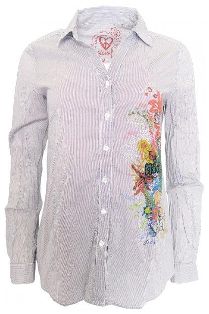 Desigual proužkovaná košile Tropical