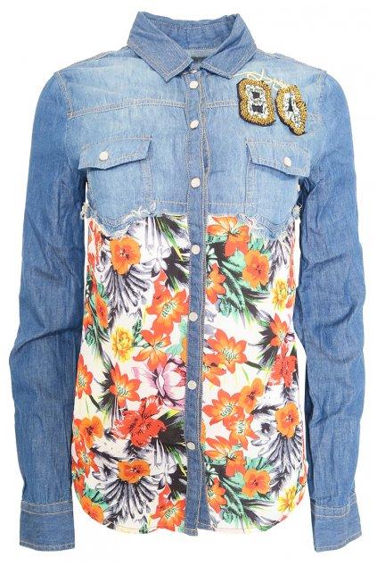 Desigual džínová košile Hawai
