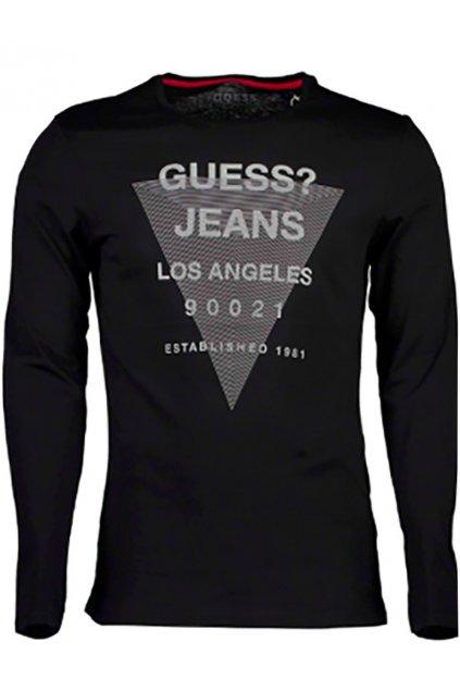 Pánské tričko s dlouhým rukávem Guess