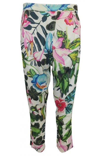 Desigual barevné květované kalhoty
