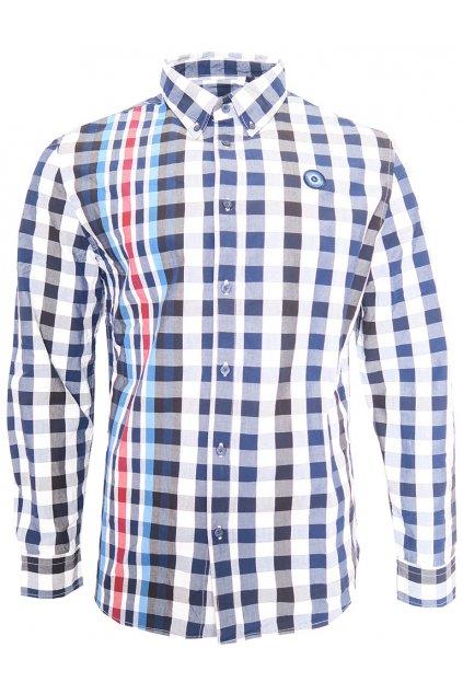Desigual károvaná modročerná košile