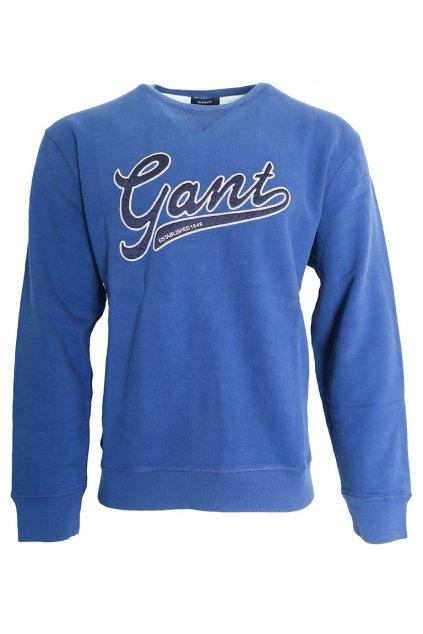 Modrá mikina s nápisem Gant