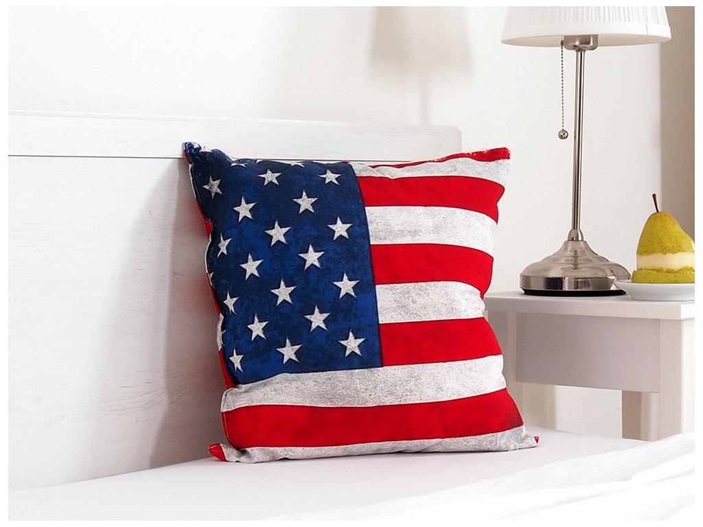 Dekorační polštářek 45x45 - USA