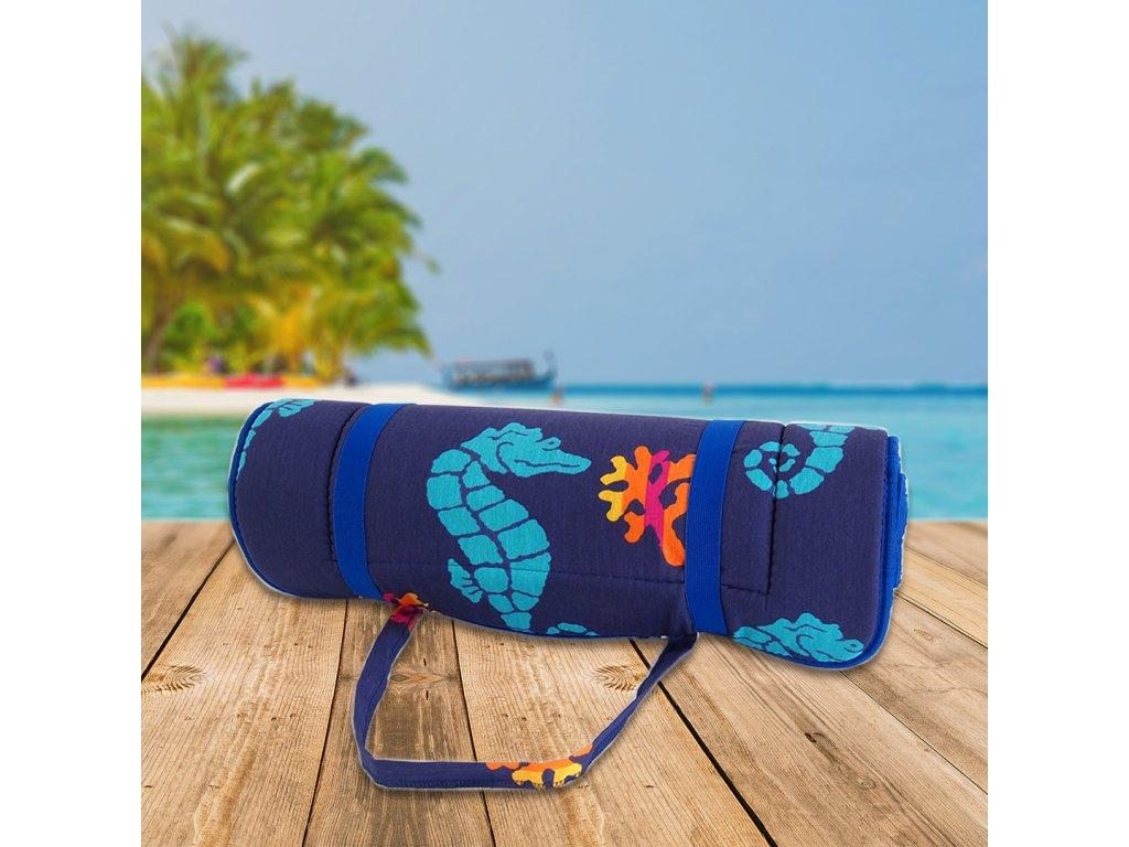 Plážové lehátko v ruličce - mořský koník