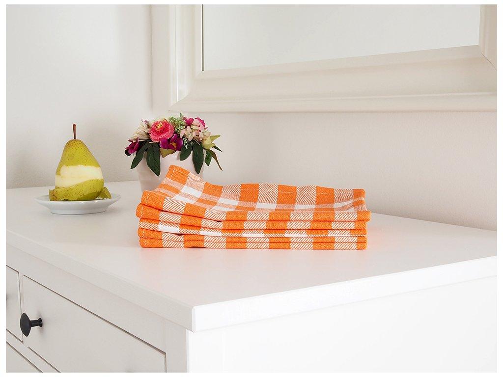 Kuchyňská utěrka KARIN 50x70 - Oranžová