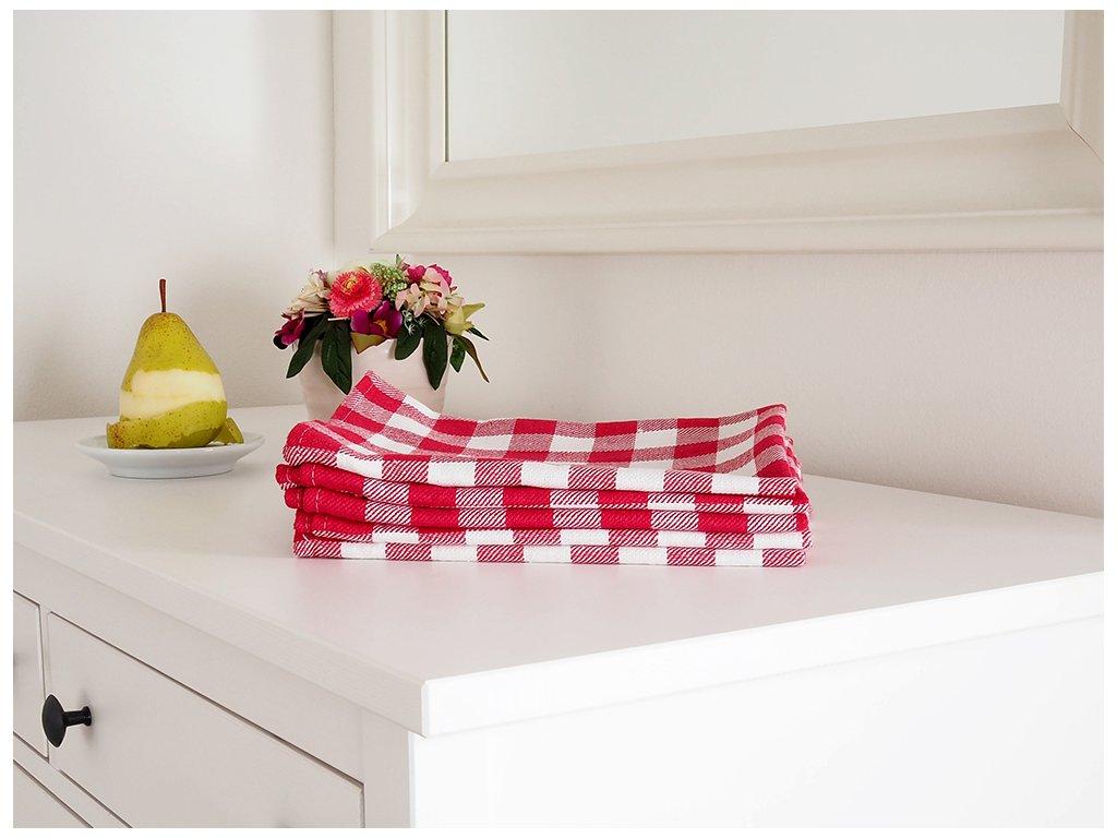 Kuchyňská utěrka KARIN 50x70 - Červená