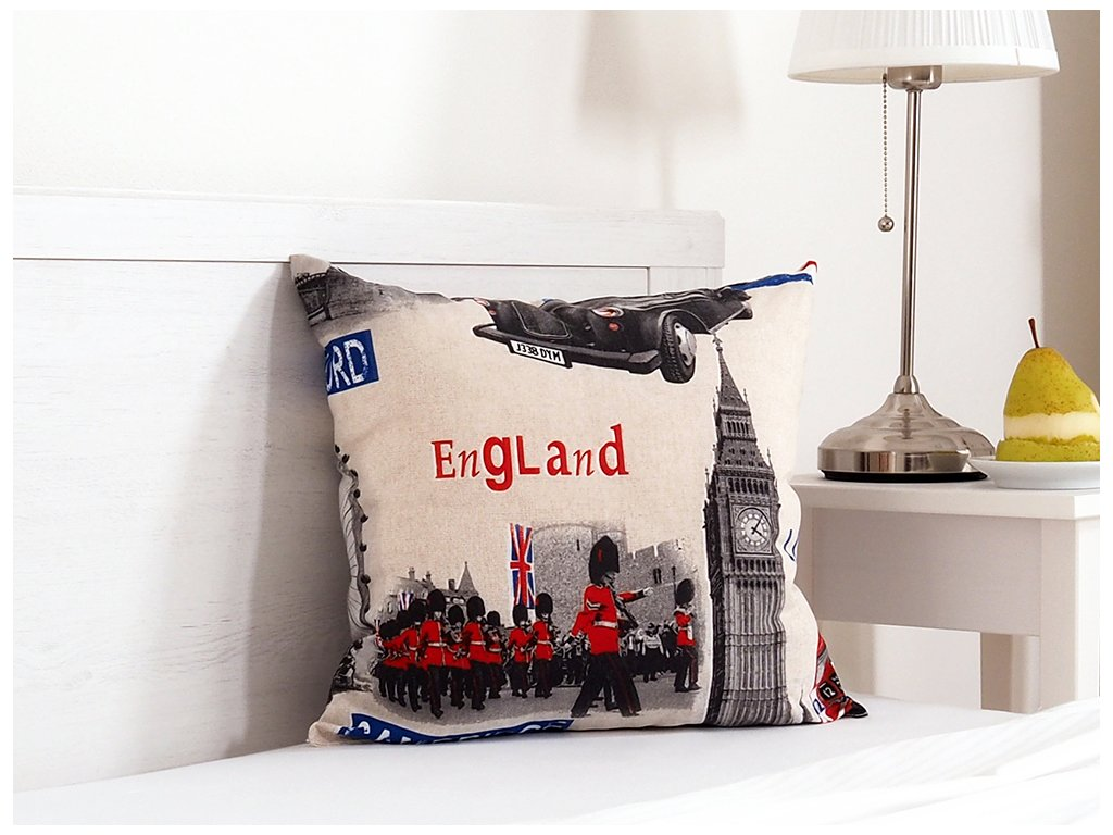 Dekorační polštářek 45x45 - England