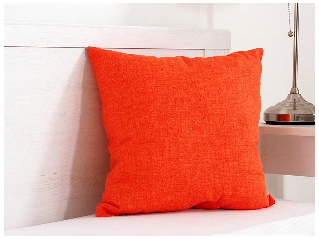 Dekorační polštářek 45x45 - Oranžový