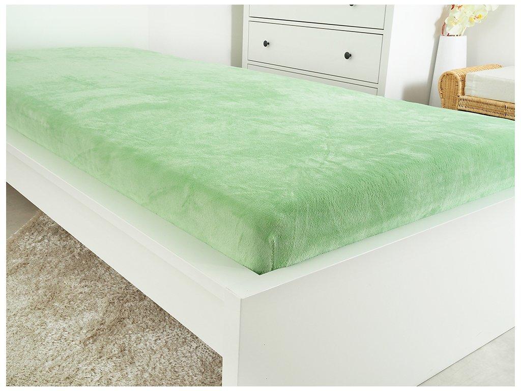 Mikroflanelové prostěradlo EXCLUSIVE - Green