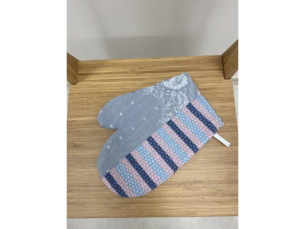 Kuchyňská chňapka s magnetem a poutkem - vzor Luka