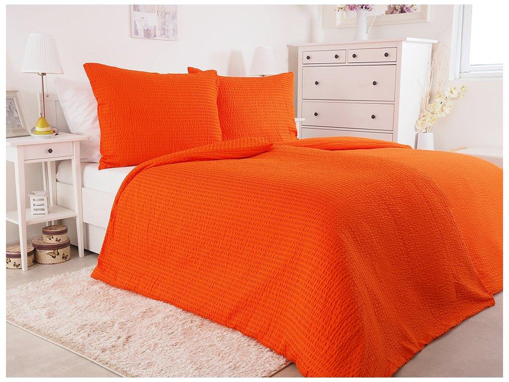 Luxusní mikrokrepové povlečení -  Orange