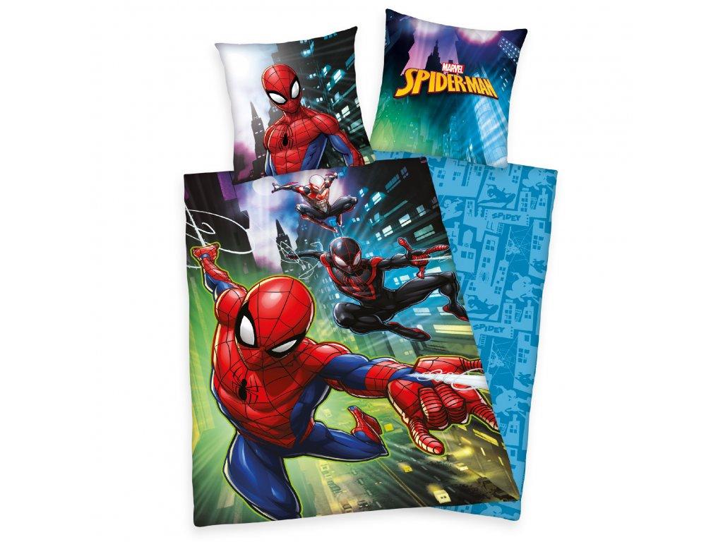 Bavlněné povlečení 140x200 + 70x90 cm - Spiderman