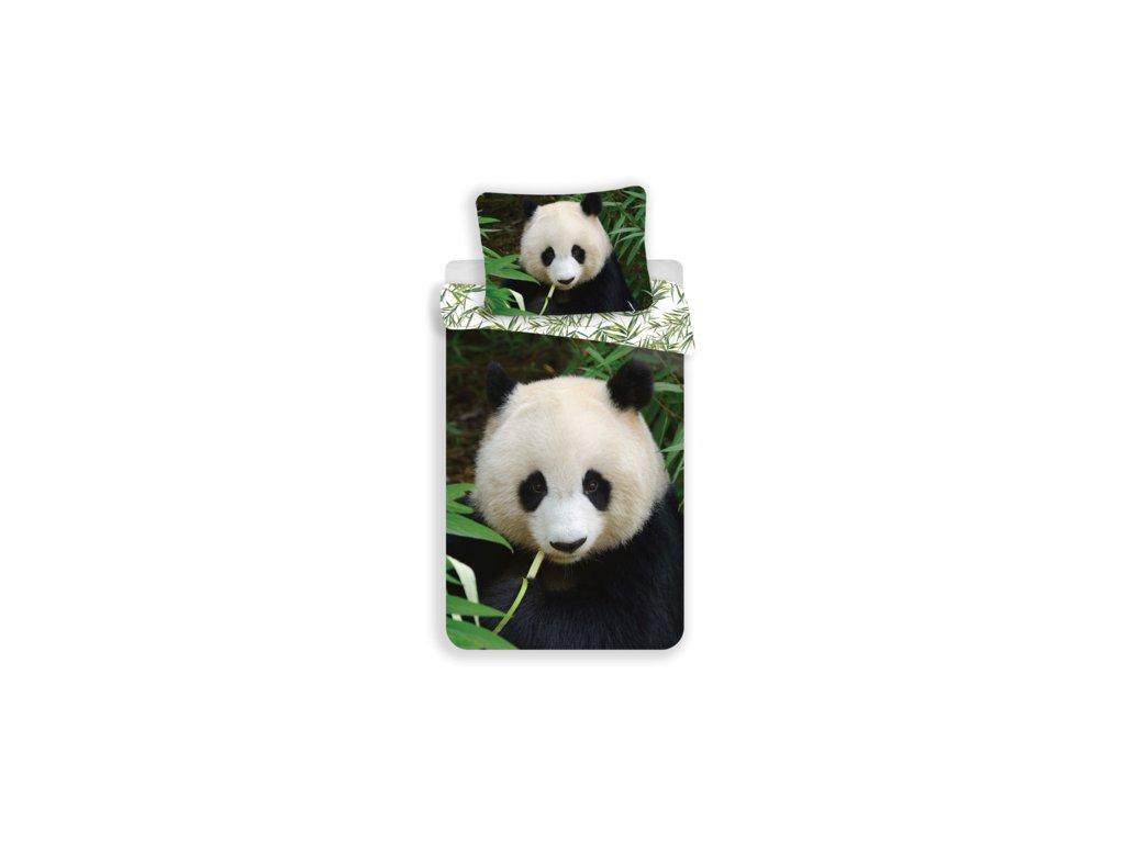 Bavlněné povlečení 140x200 + 70x90 cm - Panda 02