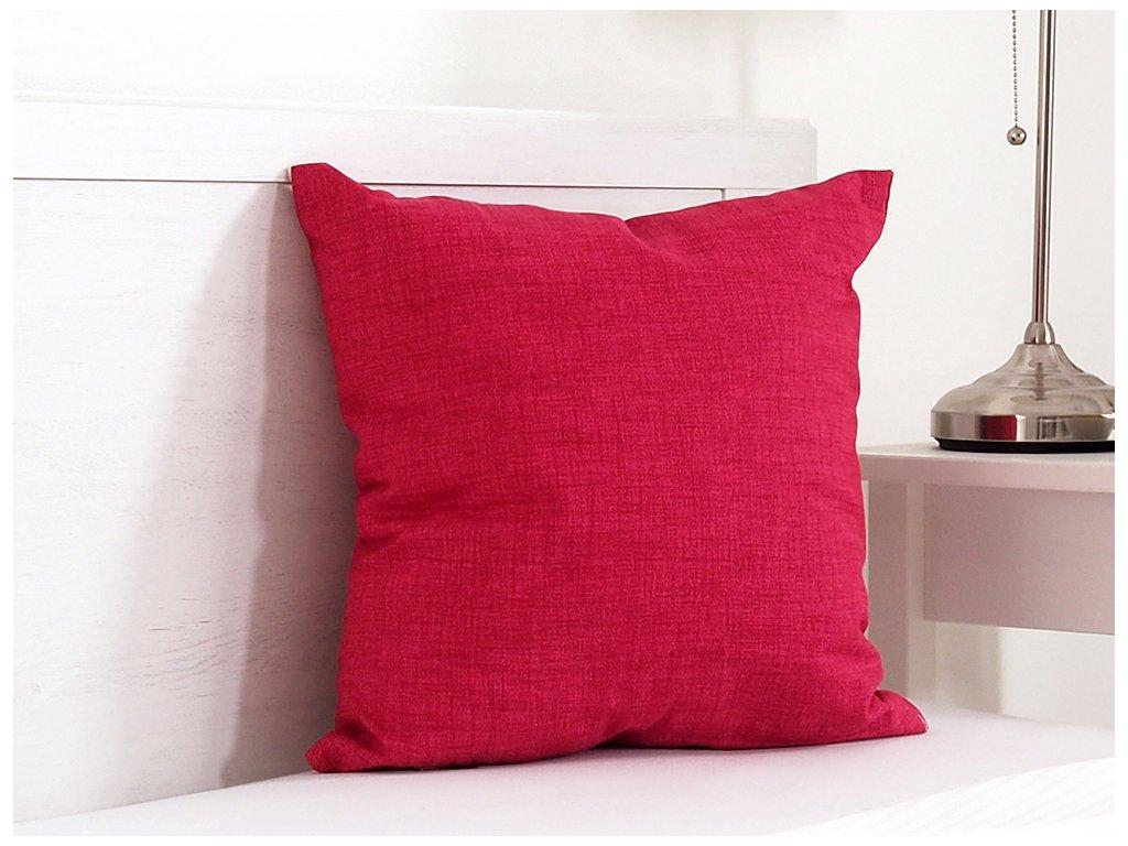 Dekorační polštářek 45x45 - Červená