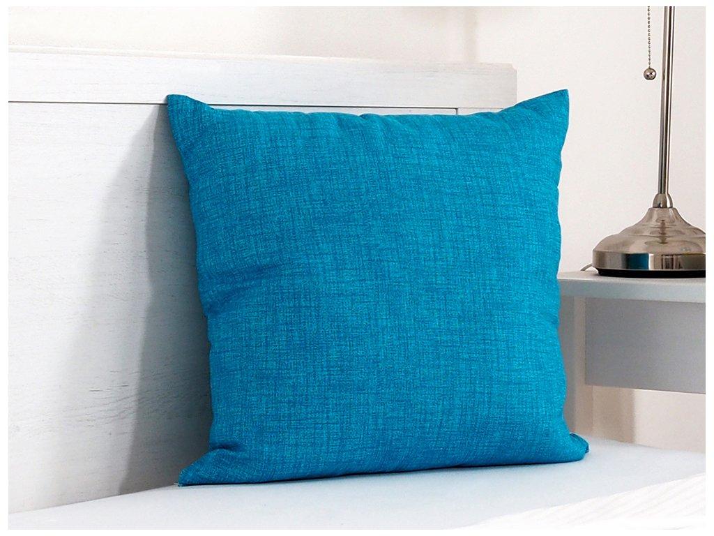 Dekorační polštářek 45x45 - Tyrkysový