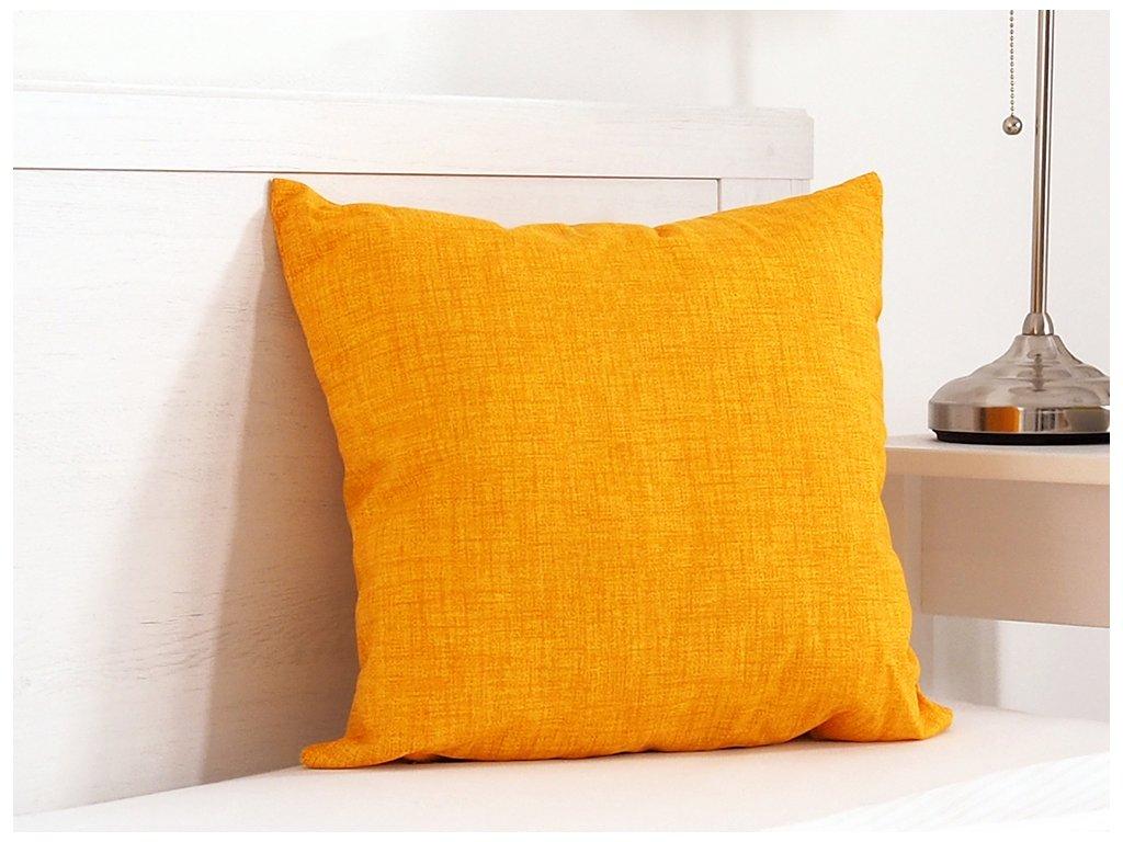 Dekorační polštářek 45x45 - Žlutý