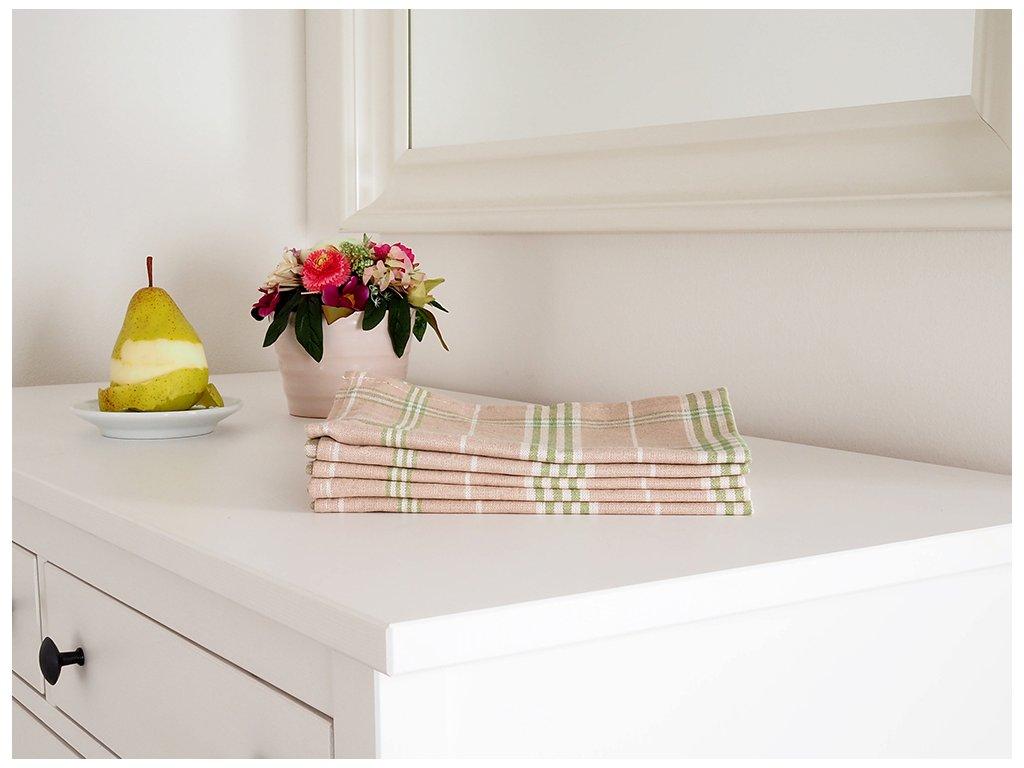 Kuchyňská utěrka TINA 45x65 - Zelená