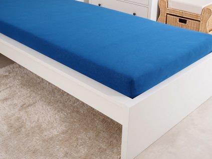 Prostěradlo Froté - Tmavě modrá švestková