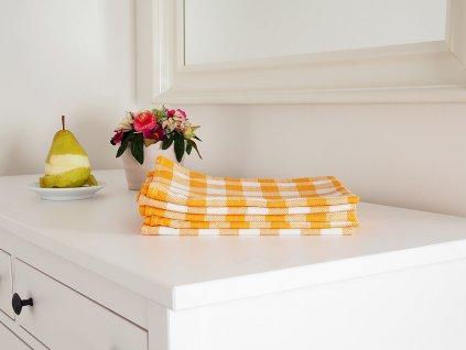 Kuchyňská utěrka KARIN 50x70 - Žlutá